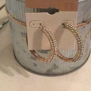 BKE foe diamond and gold hoops